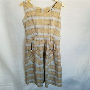 1980s Plaid Scooter Dress